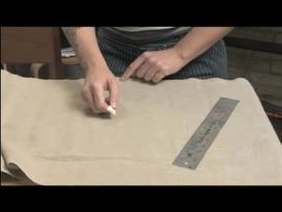 How to Sew a Messenger Bag : Cutting Fabric for Sewing A Messenger Bag