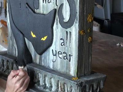 Hunter's Moon Tombstone: Halloween Prop
