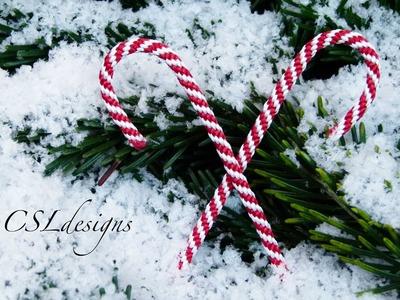Kumihimo candy cane | Christmas