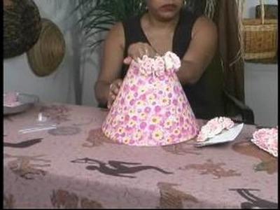 Making a Custom Lamp Shade : Gluing Flowers on a Custom Lamp Shade