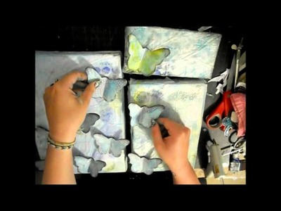 Mixed Media Canvas - Butterflies