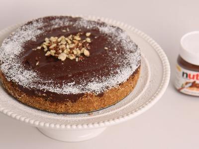 No Bake Nutella Cheesecake Recipe - Laura Vitale - Laura in the Kitchen Episode 500