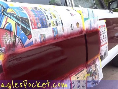 Paint Touch Up Car Dings DIY Easy Auto Painting Process $2 Paint Fix Looks like $500