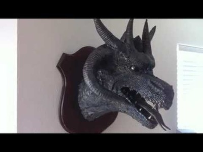 Paper Mache Dragon Head Trophy 5