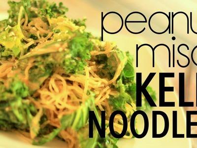 Peanut Miso Kelp Noodles | Cheap Clean Eats