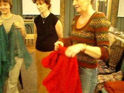 Shetland lace - Knitting workshop Brno 2008