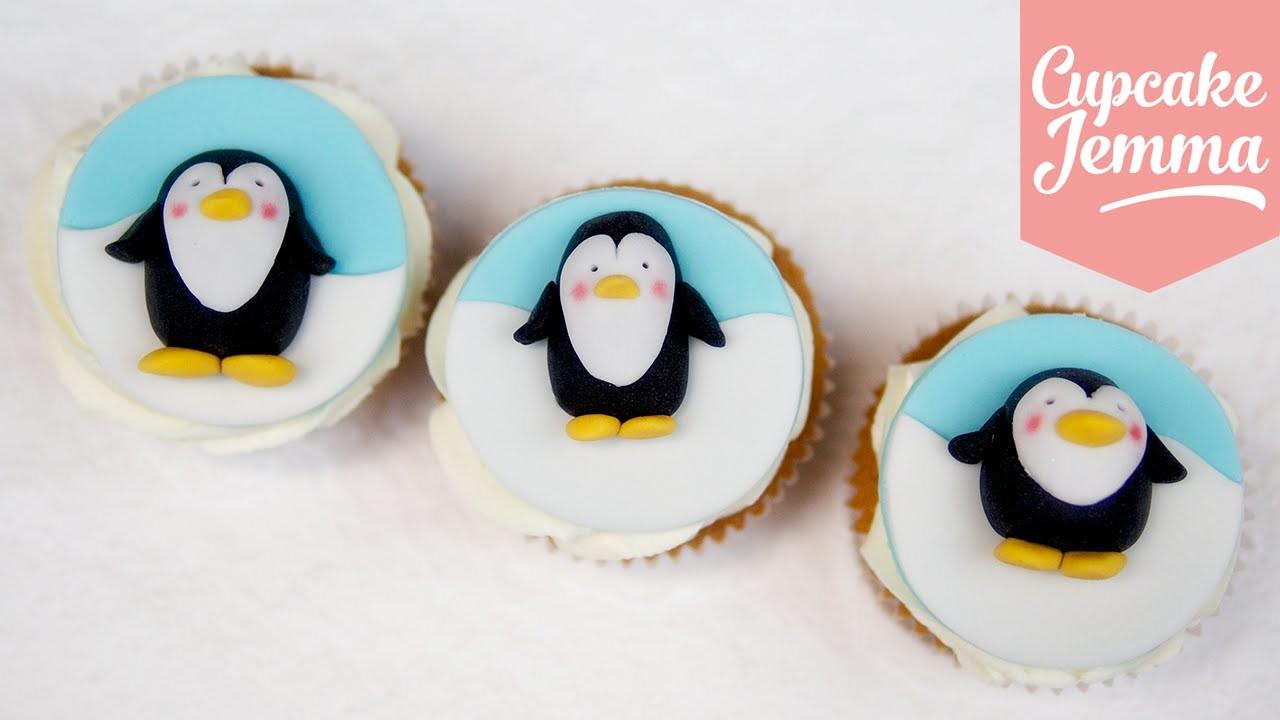 Super-cute Christmas Penguin Cupcake Toppers!   Cupcake Jemma