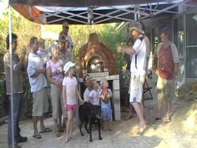 Wood Fired Pizza Oven built out of Cob