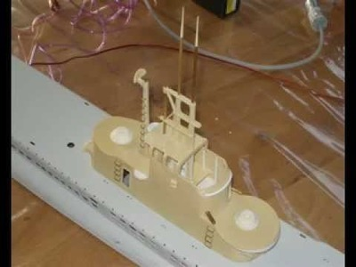 Working Radar Mast and Periscopes on my model Submarine  Engel Gato