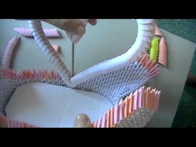 3D origami: swan loveboat part 3