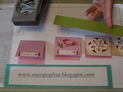 3x3 cards for mini pizza box tutorial- Stampin UP