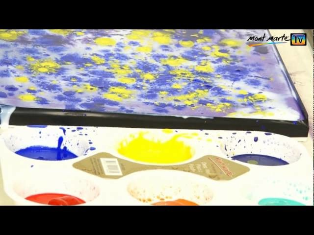 Art Lesson: How to Paint Abstract Flowers using Acrylic Paint