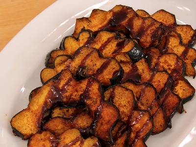 Balsamic Glazed Roasted Acorn Squash - Laura in the Kitchen Episode 248