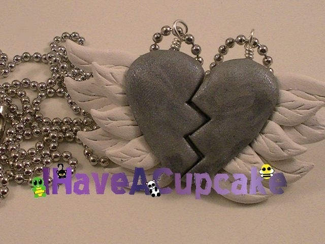 Best Friends Winged Heart Necklace