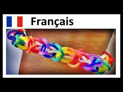 Bracelet Elastique. Rainbow Loom Bracelet (Francais) - Tourbillon Inverse. Loom Bands