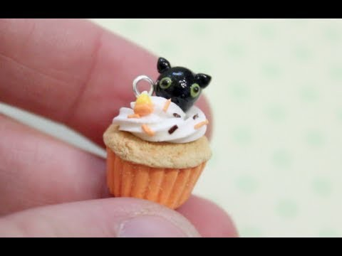 Clay Cat Cupcake Charm Tutorial!