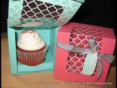Cupcake box with window  frenchiestamps.com