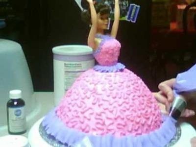 Decorating a Barbie Cake