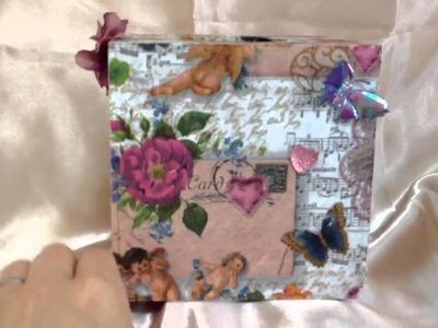 Decoupage tissue box with tissue napkin