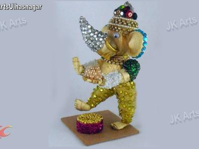 DIY 3D Quilled Dancing Ganesha Sculpture    Pictures steps   JK Arts 675