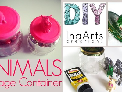 DIY Animal Storage Container. Fai da te - Come fare un contenitore con degli animaletti