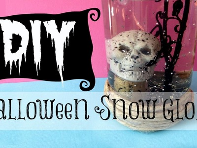 DIY Halloween Decorating | Skull Snow Globe | Michele Baratta