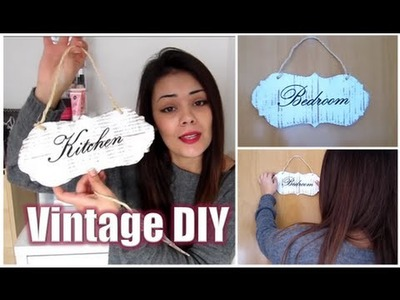 DIY HOME DECO. DECORACIÓN: CARTELES VINTAGE