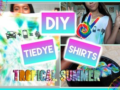 DIY Summer Tie dye shirt W. food coloring!