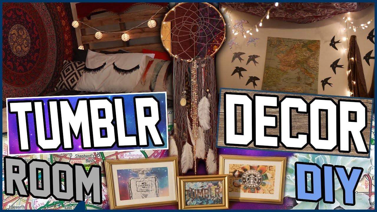 DIY Tumblr Room Decor! | Turn Your Room Into Tumblr! | Cheap & Easy Tumblr Room Decor Ideas!