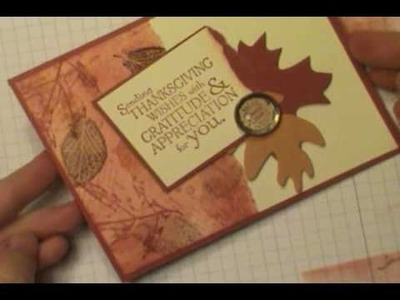 Faux Tearing Technique with Stampin' Up!'s French Foliage Stamp Set