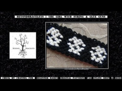► Friendship Bracelet Tutorial - Intermediate - Skulls