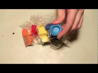 Gummy Worm Cupcake and Bottle Charm Tutorial