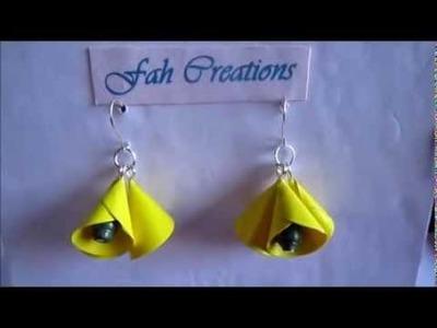 Handmade Jewelry - Paper Cone Bell Earrings (Not Tutorial)