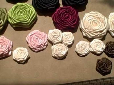 Handmade Satin Ribbon Roses!