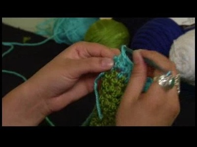 How to Crochet a Scarf : Finishing Double Crochet Trim for Scarf