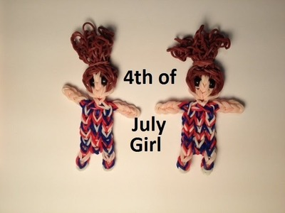 How to Make a 4th of July Girl on the Rainbow Loom