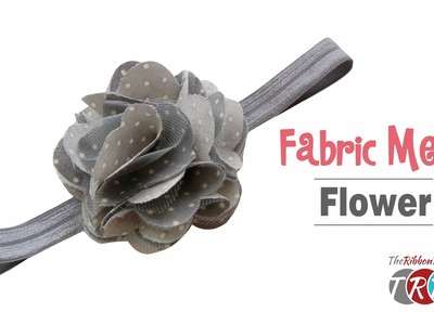 How to Make a Fabric Mesh Flower - TheRibbonRetreat.com