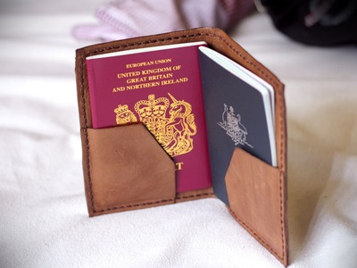 How to Make a Leather Passport Holder