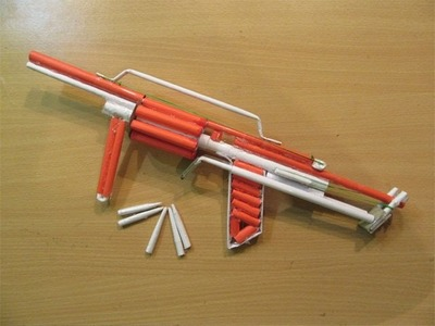 How to Make a Paper Powefull M32 Gun that shoots 8 bullets - Easy Tutorials