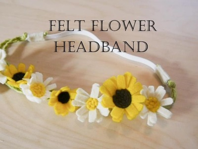 How to make felt flower headband