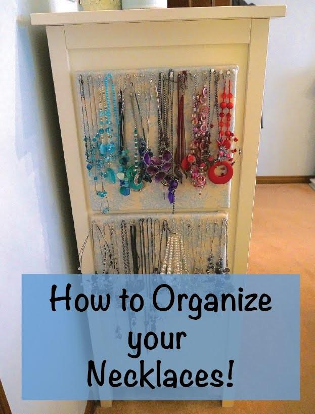 How to Organize Necklaces - DIY necklace organizer!