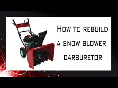 How to rebuild a carburetor
