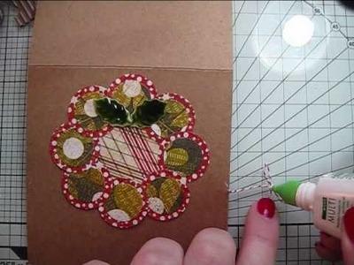 """""""JOY"""" Wreath Christmas Card"""