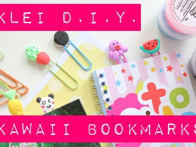 Kawaii D.I.Y: bookmarks van klei! Back to school.work tutorial MostCutest.nl