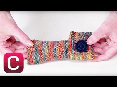 Knit a Linen Stitch Glasses Case with Wendy Bernard | Creativebug