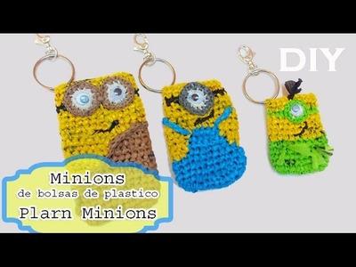Minions de bolsas de plastico.Plarn Minion inspired