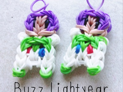 NEW Buzz Lightyear Rainbow Loom Charm.Figurine Tutorial [Part 1]
