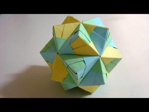 Origami Small Triambic Icosahedron (long version)