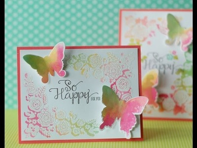 Papertrey Ink Make it Monday #109:  Watercolor Stamping Plus Embossing