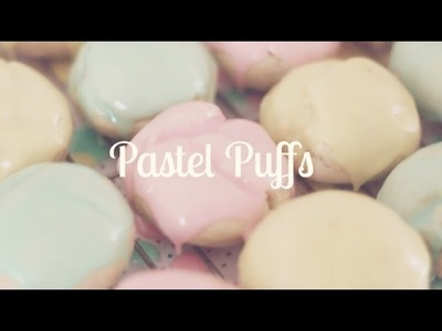 Pastel Puff Cookies